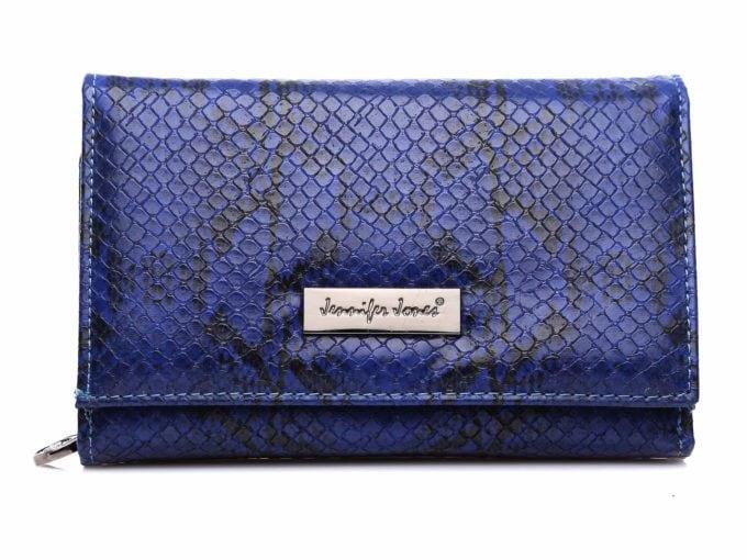 Niebieski średni portfel damski Jennifer Jones eko