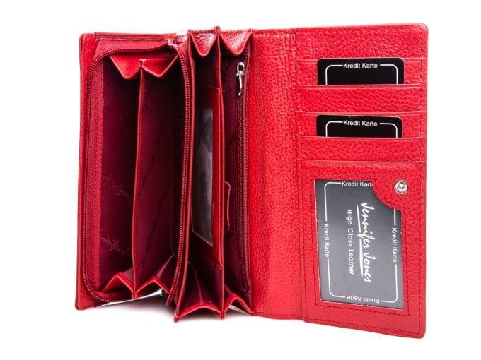 Wnętrze portfela rołzożone