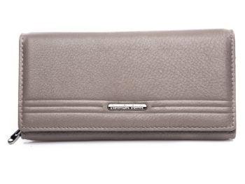 Szary duży portfel damski Jennifer Jones