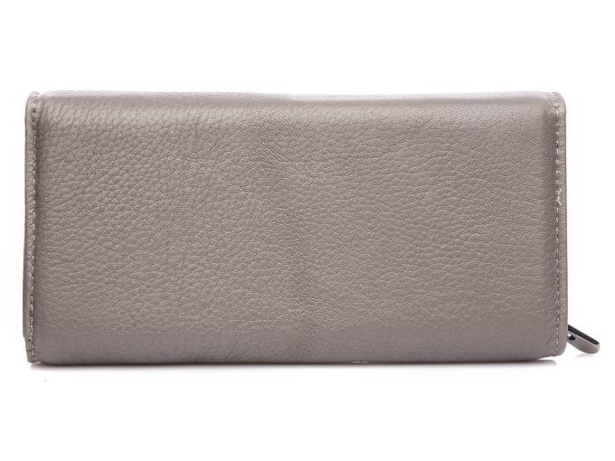 Gładka skóra naturalna z tyłu portfela