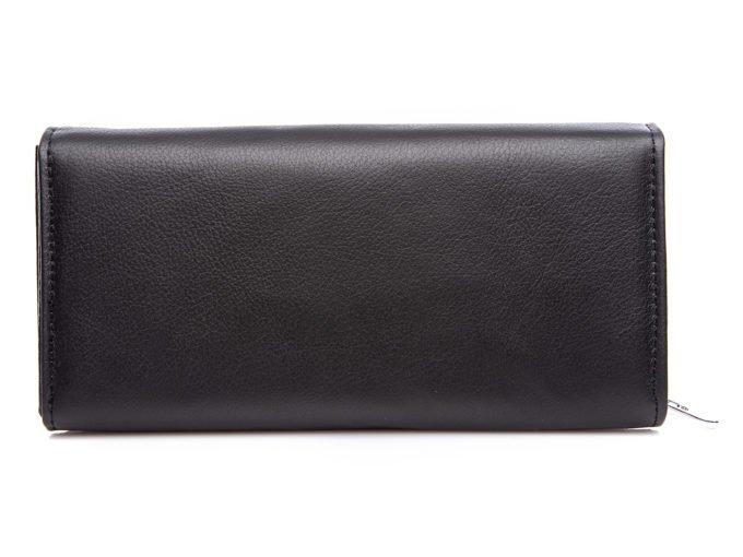 Skóra naturalna matowa z tyłu portfela