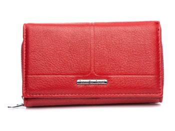 Matowy portfel damski czerwony