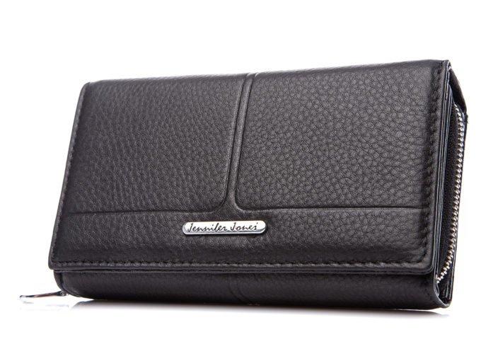 Czarny matowy portfel Jennifer Jones