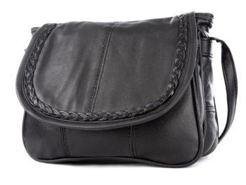 Mała czarna torebka damska ze skóry naturalnej Bag Street