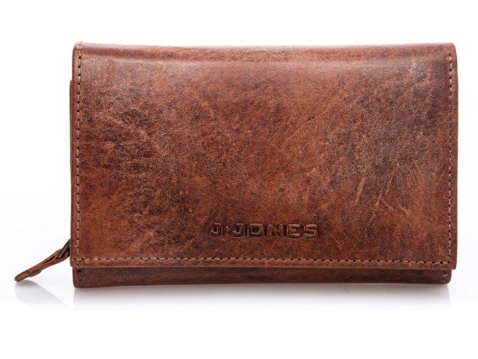 Pojemny portfel J Jones kasztanowy brązo