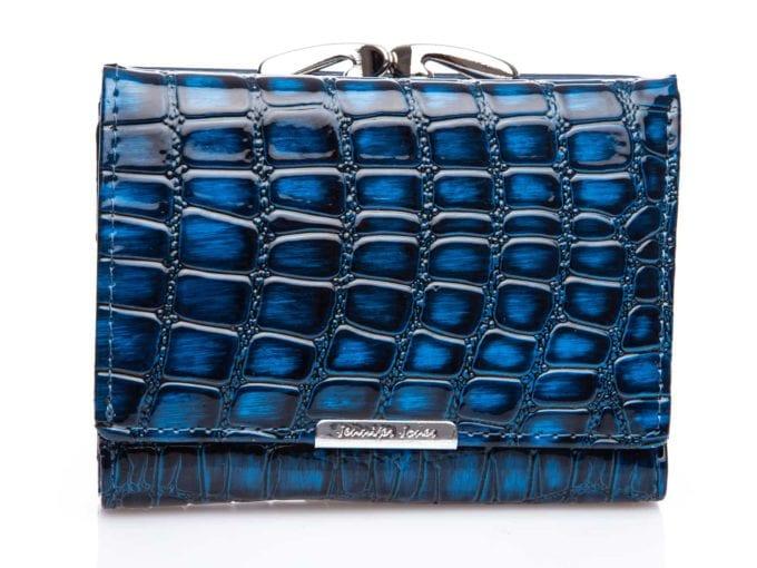 Portfel czarno niebieski średni 5243