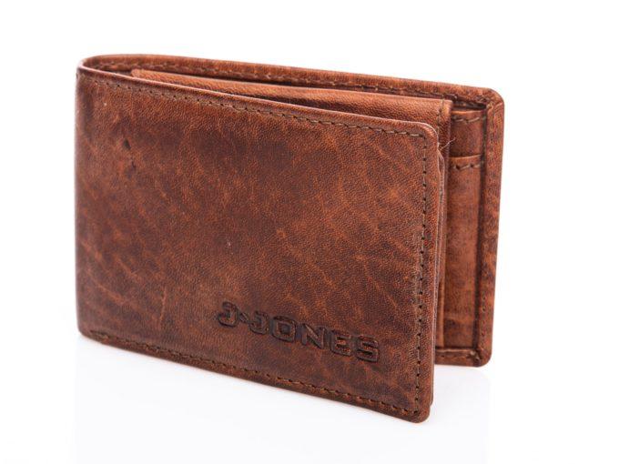 Mały portfel skórzany brązowy J Jones