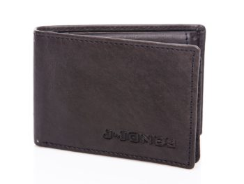 Mały czarny portfel skórzany J Jones