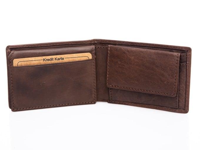 Wnętrze portfela z kieszenią na monety