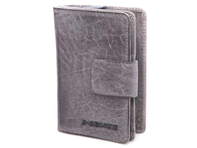 Szary pionowy portfel J Jones retro