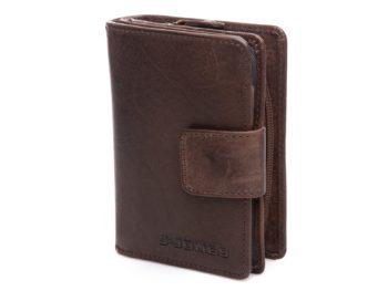 Pionowy portfel ciemno brązowy J Jones