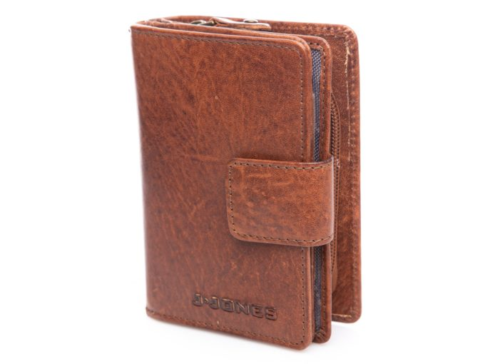 Brązowy portfel pionowy J Jones
