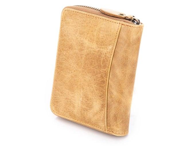 Jasno brązowy portfel męski WILD