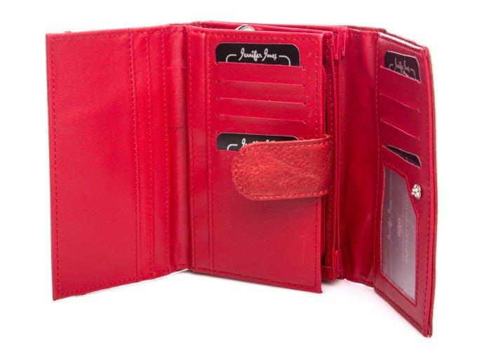 Wnętrze portfela wykonane z gładkiej eko-skóry