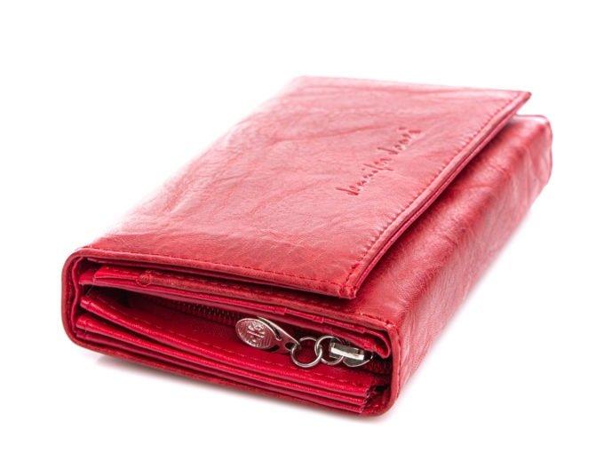Czerwony portfel Jennifer Jones z eko skóry