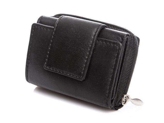 Malutki portfel kieszonkowy czarny