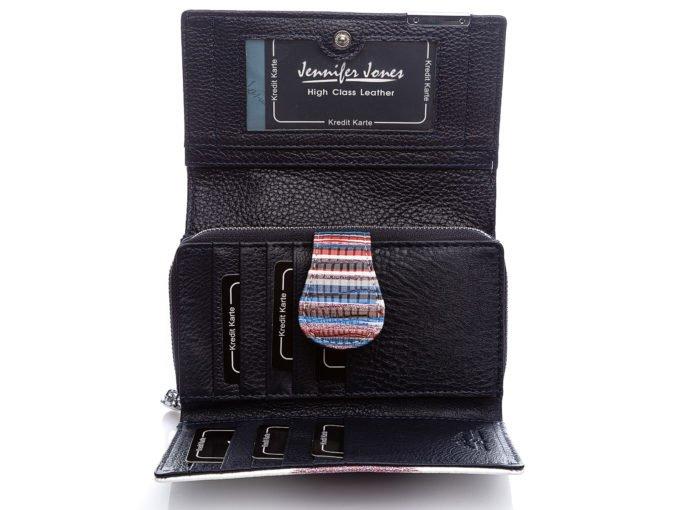 Granatowe wnętrze portfela 5261