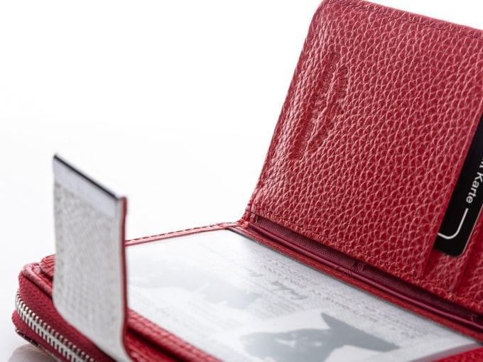 Tłoczony znaczek ochrony RFID w środku portfela