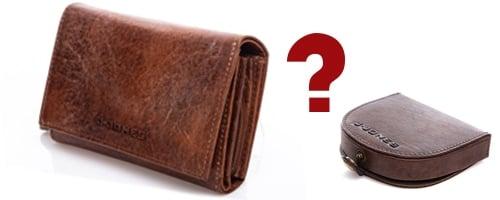 Rozmiar przy wyborze portfela męskiego