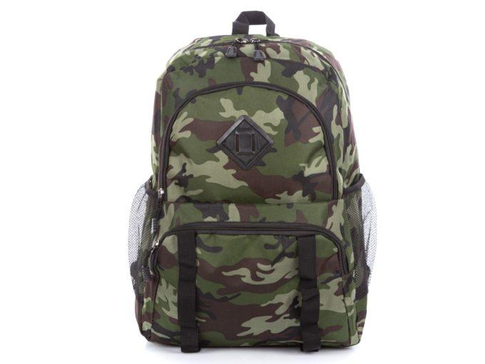 Młodzieżowy plecak w kolorze zielonego moro Bag Street