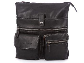 Czarna torebka damska z wieloma kieszonkami Bag Street