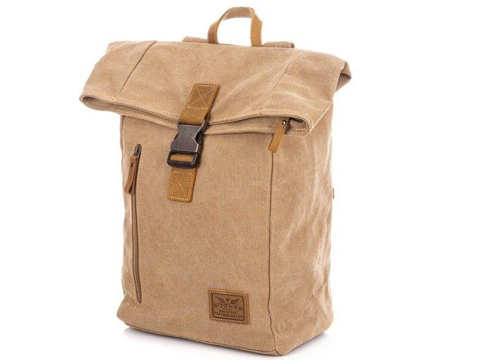 Beżowy plecak J Jones z canvasu