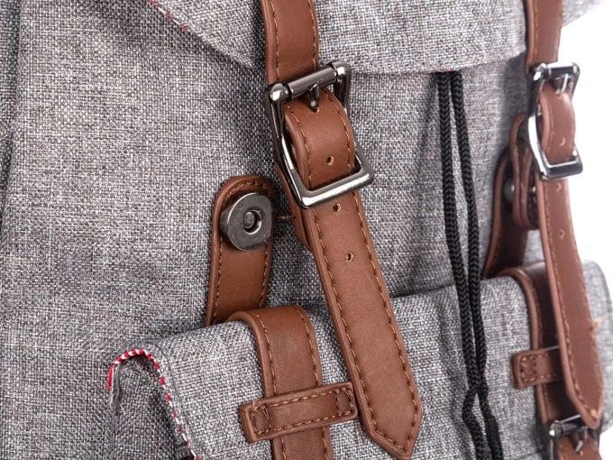 Magnetyczne zapięcie klapy plecaka