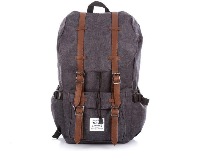 Grafitowy wysoki plecak w starym stylu J Jones.