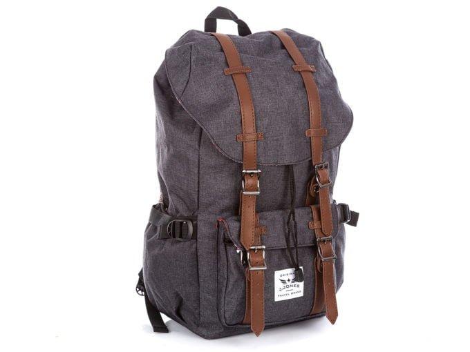 Wysoki, duży plecak J Jones w kolorze grafitowym