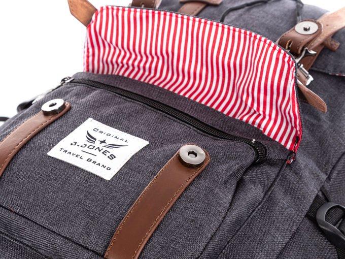 Dodatkowa kieszonka z przodu plecaka
