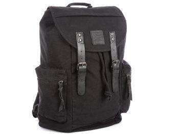 Czarny plecak J Jones w stylu vintage