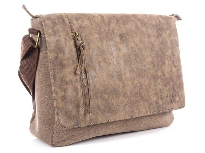 Brązowa torba z klapą z eko skóry J Jones