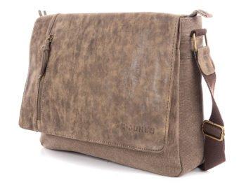 Brązowa torba z cieniowaną klapką