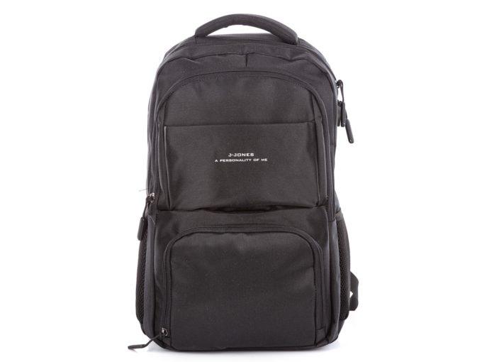 Plecak czarny J Jones 4082 ze złączem USB