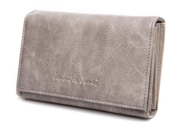 Podłużny portfel szary Jennifer Jones
