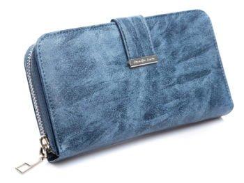 Duży portfel damski w kolorze jeansowym