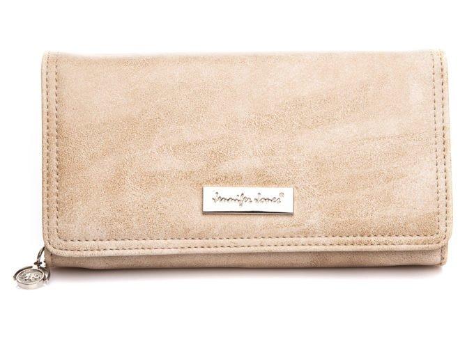 Duży portfel damski w kolorze ecru Jennifer Jones