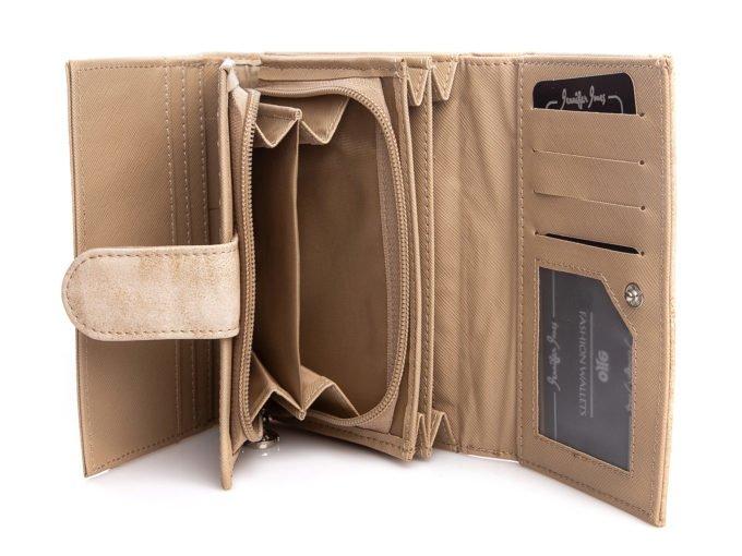 Pojemna podwójna kieszeń na bilon w środku portfela