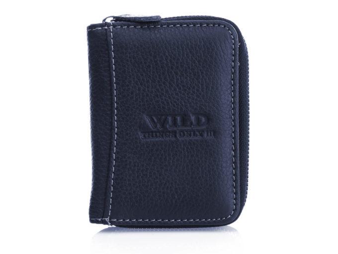 Mały granatowy, skórzany portfel męski Wild Things Only - 5511
