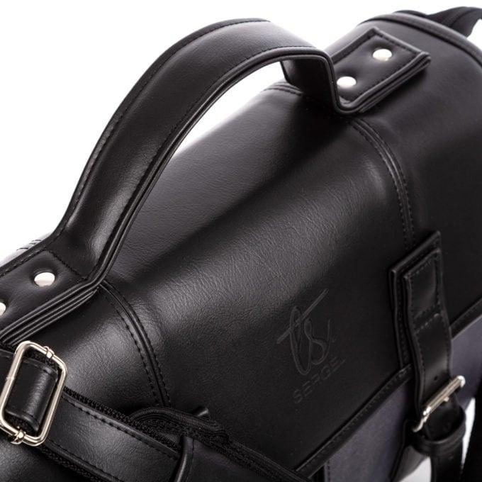 Mocna rączka torby wykonana z grubej skóry ekologicznej