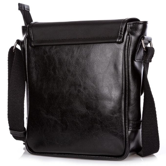 Tył skórzanej torby męskiej na ramię SERGEJ