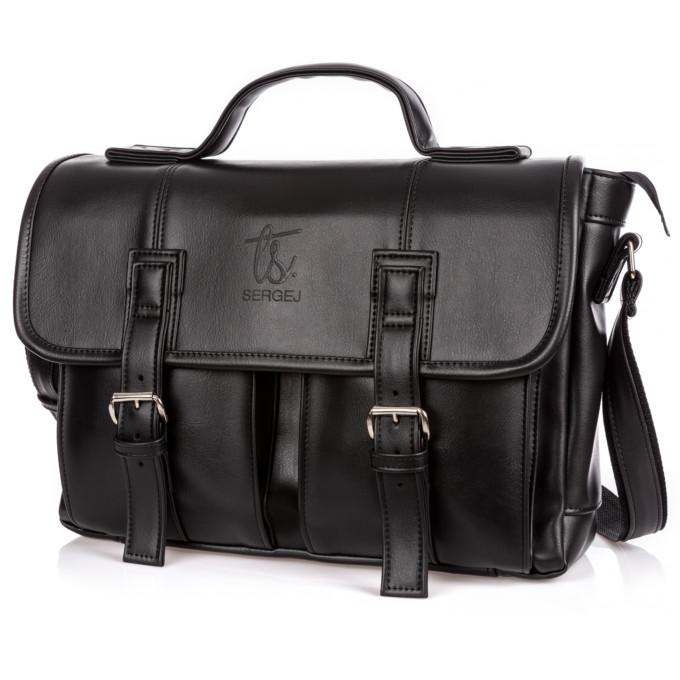 Zdjęcie torby męskie typu aktówka na ramię, czarnej, Sergej