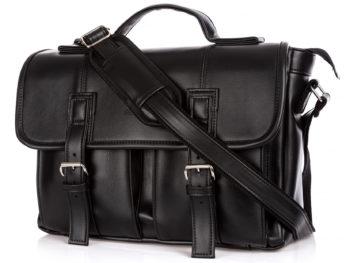 Duża torba męska do pracy SERGEJ, wykonana w całości ze skóry ekologicznej