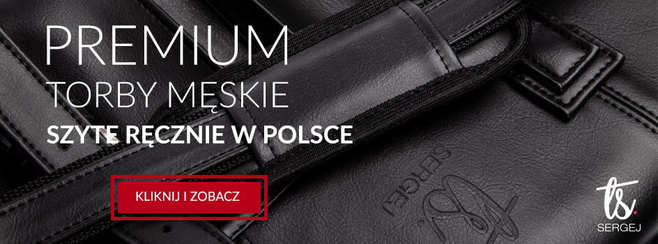 Torby męskie premium szyte ręcznie w Polsce - SERGEJ