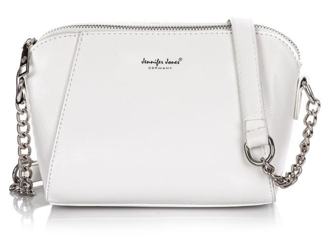 Mała biała torebka wieczorowa Jennifer Jones