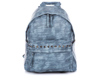 Niebieski plecak damski z ćwiekami Jennifer Jones