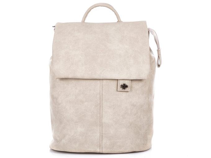 Elegancki plecak damski w kolorze ecru