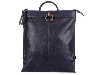 Modny plecak damski granatowy ze skóry ekologicznej Jennifer Jones