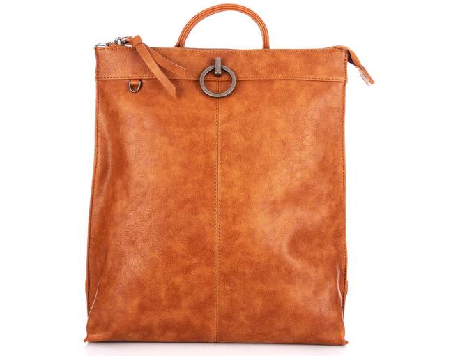 Modny plecak damski w kolorze brązowym Jennifer Jones