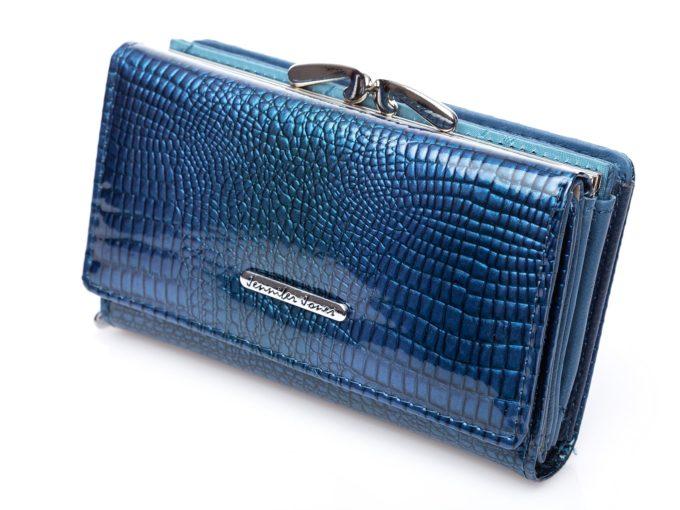 Niebieskie portfele damskie